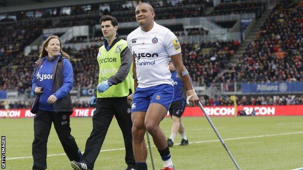 Jonathan Joseph injured at Saracens