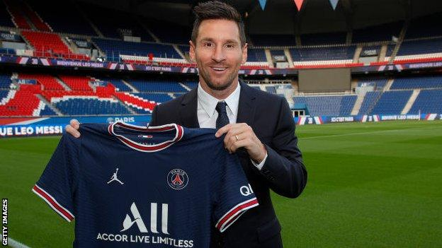 Lionel Messi unveiled by PSG