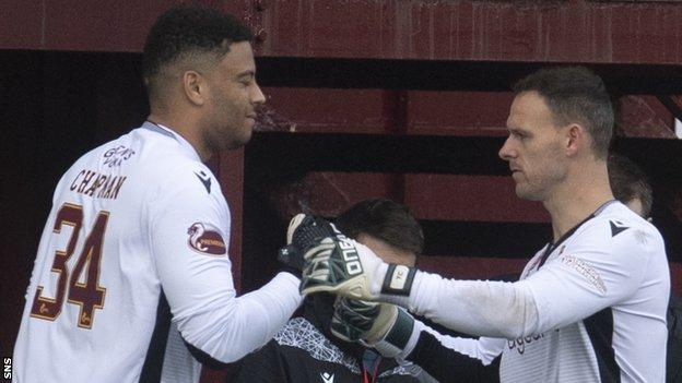 Aaron Chapman replaced Trevor Carson in Saturday's win and is set for a lengthy run in the Motherwell side