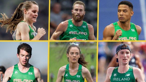 Ciara Mageean, Stephen Scullion, Leon Reid, Paul Pollock, Eilish Flanagan, Kevin Seaward