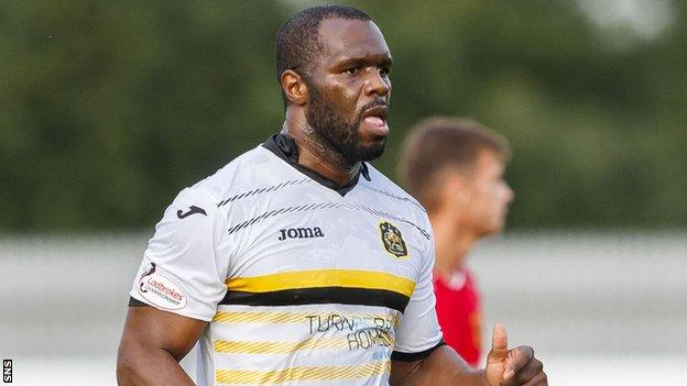 Christian Nade scored for Annan Athletic