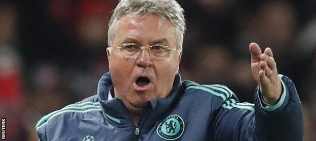 Hiddink is in his second spell as Chelsea boss
