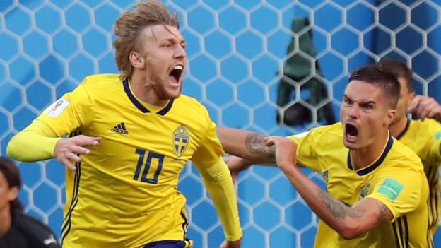 World Cup  Emil Forsberg Sends Sweden Into Last Eight With   Win Over Swiss Bbc Sport