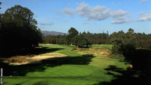 The 14th hole at Loch Lomond