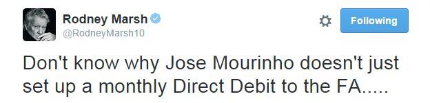 Rodney Marsh Tweet