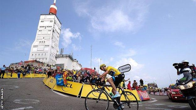 Chris Froome on Mont Ventoux