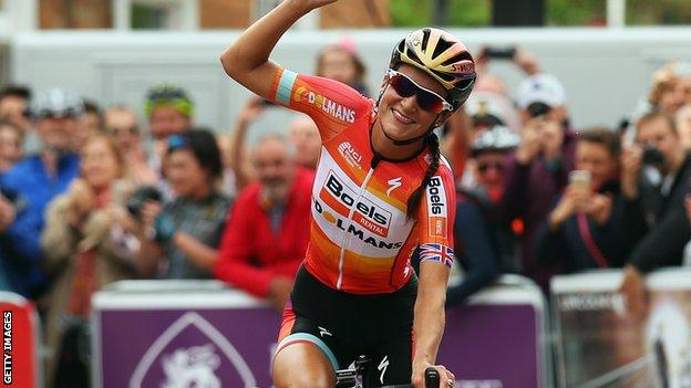 Lizzie Armitstead who won silver at the Road Cycling World Championships