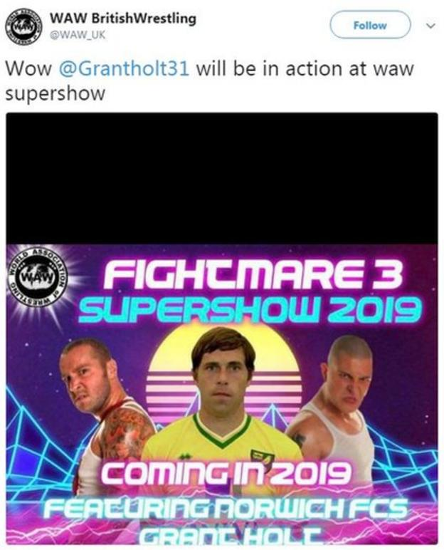 Grant Holt WAW poster