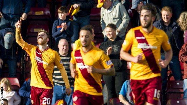 Motherwell beat Aberdeen in their last match at Fir Park