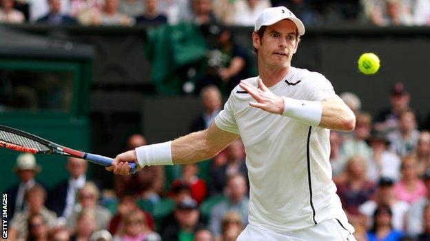 Andy Murray is through to the third round at Wimbledon
