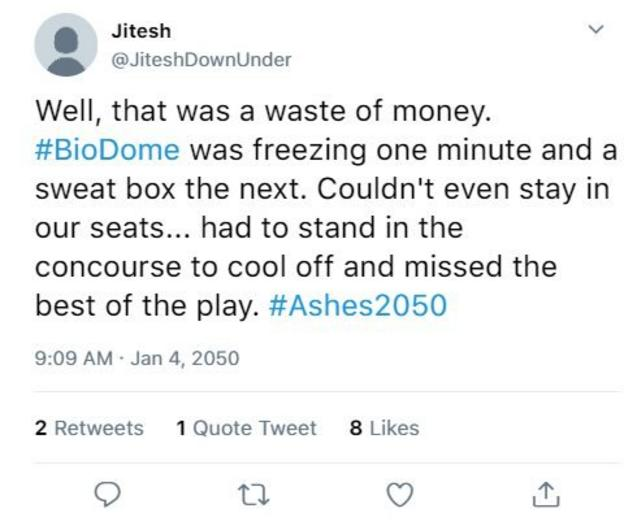 Imagined tweet from Cricket fan