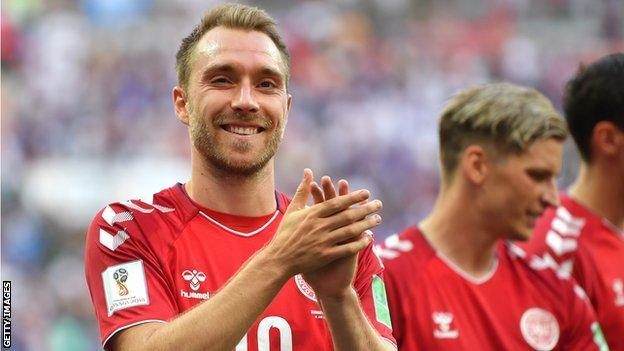 Christian Eriksen of Denmark