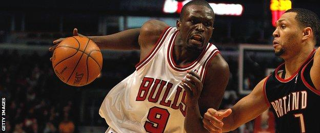 Luol Deng in action for the Chicago Bulls