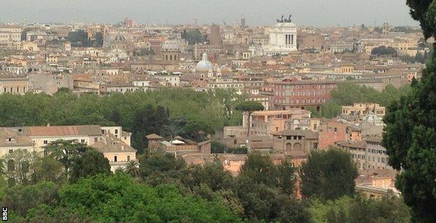 View of Rome from Rosella Sensi's neighbourhood