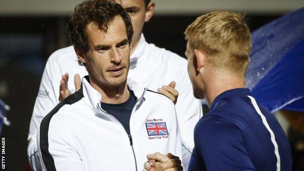 Andy Murray and Kyle Edmund