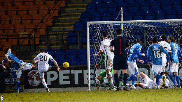 Chris Kane scores for St Johnstone against Inverness