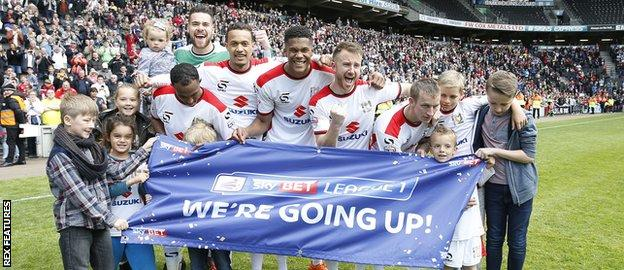 Promotion at MK Dons