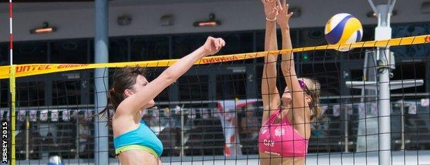 Beach volleyball at Jersey 2015