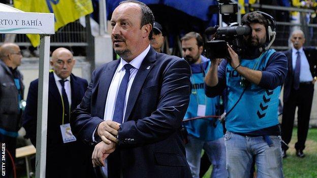 Real Madrid manager Rafael Benitez