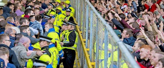 Aberdeen and Rangers fans