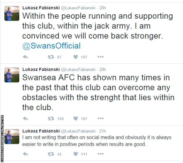 Lukasz Fabianski on Twitter