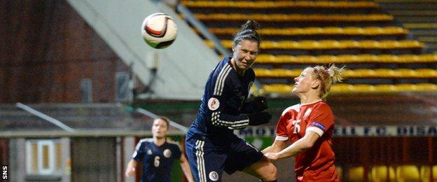 Jane Ross opened the scoring for Scotland against Belarus at Fir Park on Friday