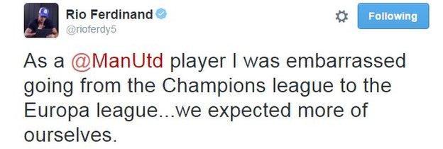 Rio Ferdinand on Twitter