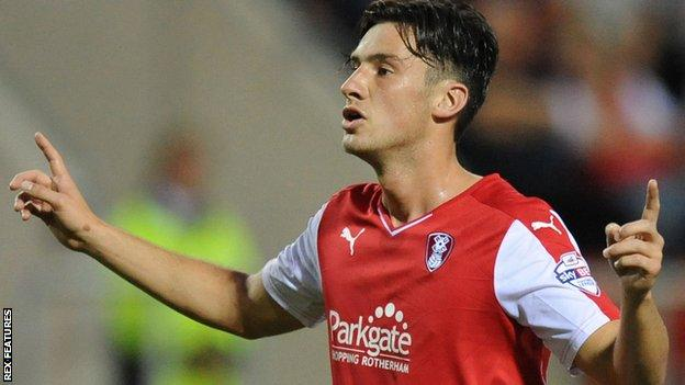 Rotherham midfielder Joe Newell