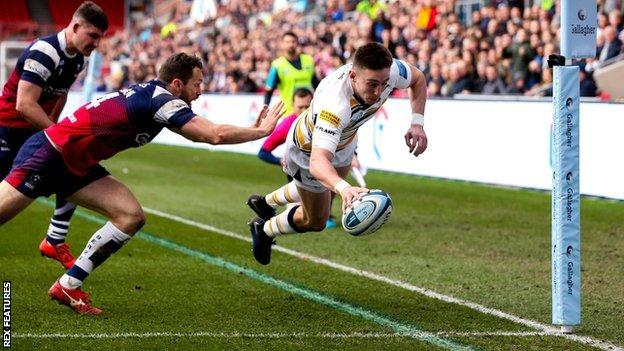 Josh Adams third try