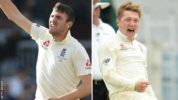 Craig Overton (left) has taken nine wickets in four Tests, while Dominic Bess (right) has three wickets in two Tests