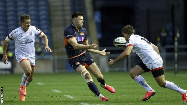 Edinburgh surrendered a 12-point lead in the final quarter against Ulster