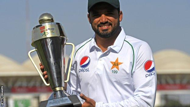 Azhar Ali with the trophy