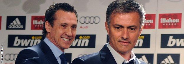 Jorge Valdano and Jose Mourinho