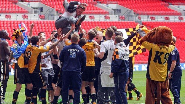Newport promoted at Wembley