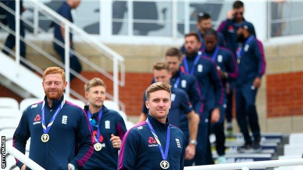 England players at The Oval