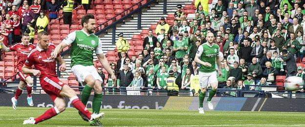 Adam Rooney scores for Aberdeen
