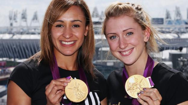 Laura Kenny speaks to Jessica Ennis-Hill for advice after giving birth