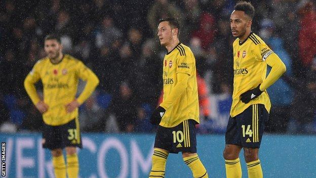 Pierre-Emerick Aubameyang and Mesut Ozil