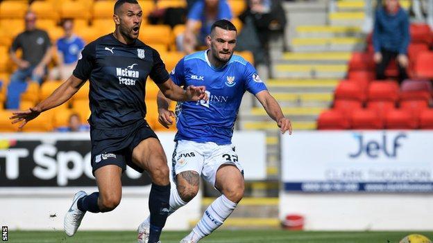 Tony Watt scores for St Johnstone against Dundee