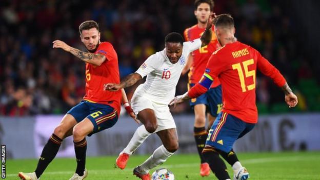 England against Spain