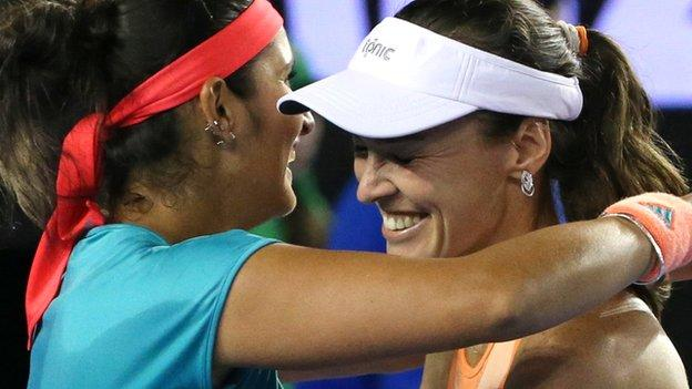 Mirza and Hingis joined forces last year