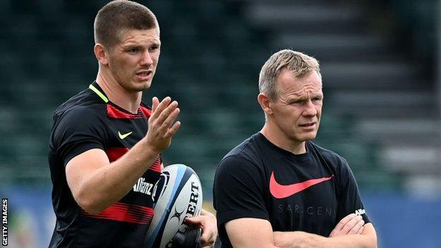 Owen Farrell and Mark McCall