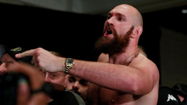 Deontay Wilder v Tyson Fury: Press conference descends into chaos thumbnail