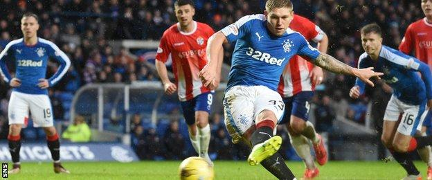 Two of Waghorn's three goals came from the penalty spot