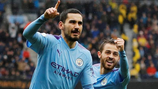 Man City 3-0 Aston Villa: Champions cut Liverpool's lead to three points thumbnail