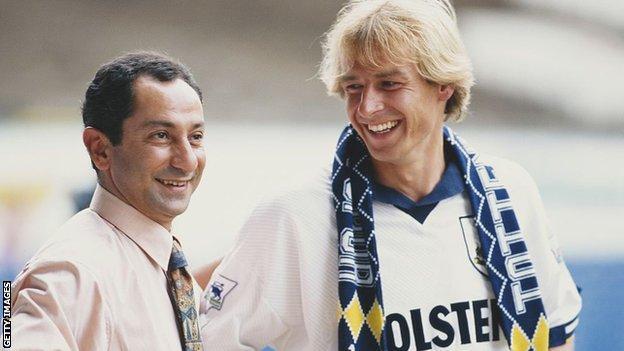 Klinsmann first joined Spurs from Monaco in 1994