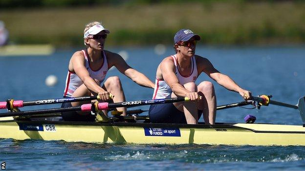 Katherine Grainger (right) and her double scull partner Victoria Thornley