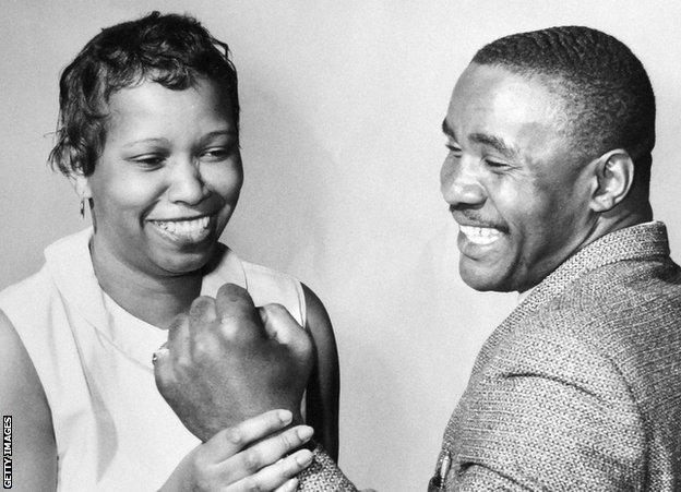Geraldine and Sonny Liston