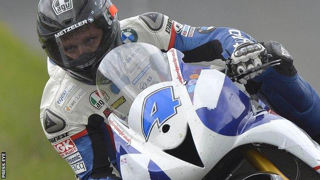 Guy Martin set the best speed in Superbike practice