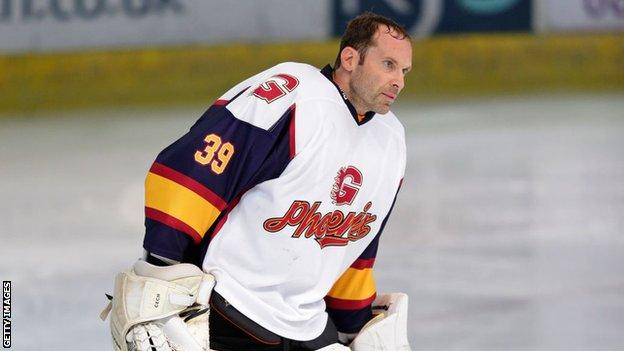 Petr Cech playing for Guildford Phoenix